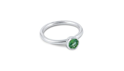 Ring aus Fairmined Silber mit Peridot
