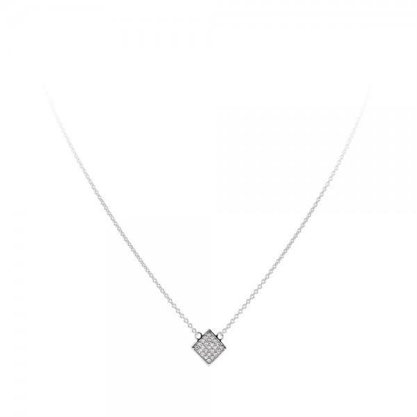 Collana in argento con zirconi