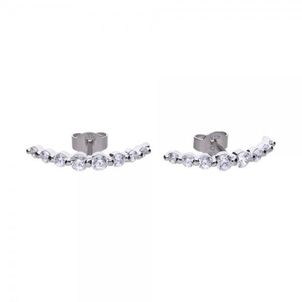 Ohrringe aus Silber mit Zirkonia