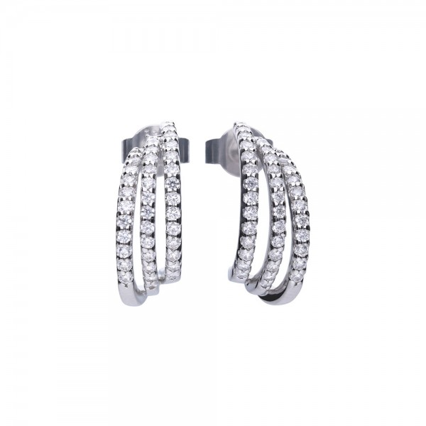Orecchini in argento con zirconi