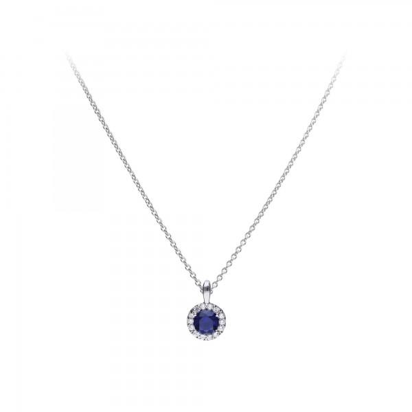 Halskette aus Silber mit Zirkonia