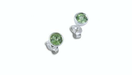 Ohrringe aus Fairmined Silber mit Peridot