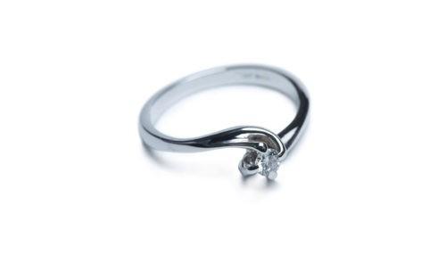 SAMIA Anello Ethical Diamond ct.0,05 in oro Ethical Gold Fairmined